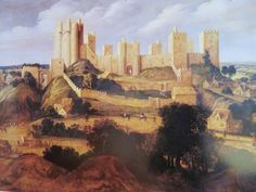 Pontefract castle in the 17th century