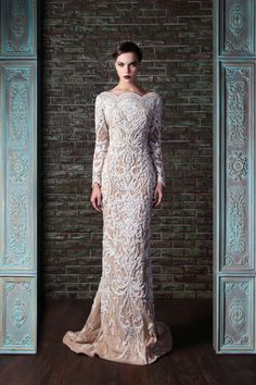 Couture| Serafini Amelia| Hand Embroidered Couture Dress