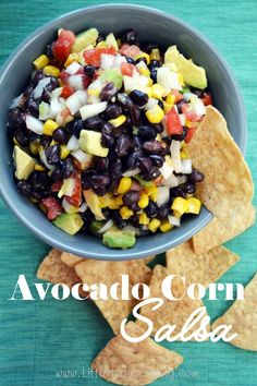 Avocado Corn Salsa Recipe, great recipe for a fresh summer snack!