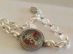 Holiday bracelet locket #origamiowl #simplelockets #christmas #holidays