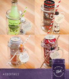 A perfect gift idea from Something Turquoise. These mason jar cocktails are easily customized for each close friend or family member. #MadeFromHere