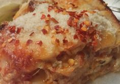 Keto (low-carb) lasagna; I used deli-sliced turkey instead of chicken. Turned out great! Though I think we could have done with more ricotta.  Also want to try with deli ham.
