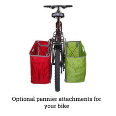 Pannier attachment for bike Packbasket