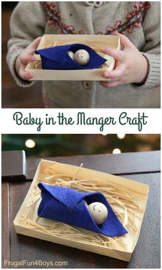 Sweet Manger Craft for Preschoolers - Frugal Fun For Boys and Girls - Christmas Preschool Christmas Crafts, Christmas Crafts For Kids To Make, Christmas Activities For Kids, Nativity Crafts, Kids Christmas, Nativity Sets, Preschool Projects, Preschool Ideas, Christmas Stuff