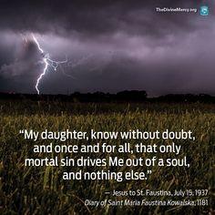 Jesus quote to St Faustina Kowalska. Catholic Quotes, Catholic Prayers, Catholic Saints, Roman Catholic, St Faustina Diary, Saint Faustina, Savior, Jesus Christ, St Faustina Kowalska
