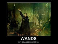 """Who looks at a screwdriver/wand and thinks, 'Ooh, this could be a little more sonic'?"" Barty Crouch, Jr does."