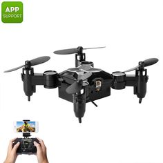 Compact Mini Video Drone w Camera, WiFi, LED Lights, Control Distance up to Drones, Drone Quadcopter, Wi Fi, Flight Speed, Micro Drone, Foldable Drone, Shooting Video, Drone For Sale, App Support