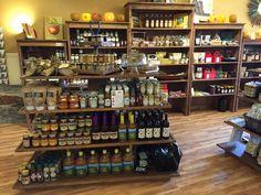 rustic wood retail fixtures displays shelves gondola store ideas