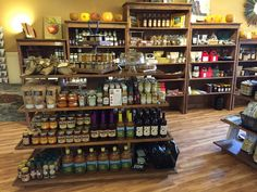 Rustic wood retail fixtures displays shelves gondola store ideas. Gondolas are a great way to utilize space. http://jbrothersandcompany.com