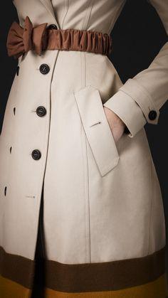 Burberry Prorsum College Stripe Trench Coat