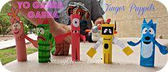 DIY: Yo Gabba Gabba Finger Puppets Characters (Cheap Kid's Craft) Toodee, Plex, Foofa, Brobee, and Muno| SassyDealz.com
