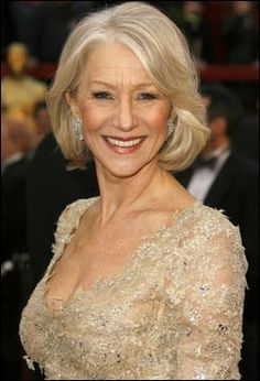 helen mirren hairstyles | unlike her unreachable queen hairstyle in the movie the low key simple ...