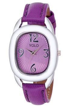 YOLO Women's Purple Dial Analog Wrist Watch with Purple Leather Strap Is A Unique And Innovative Product In The Wrist Watches Market. This Amazing, Stylish Fashion Watch Has Arrived To Complement Your Look And Attitude.