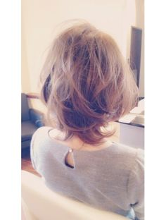 ヘアラウンジ ビジュー(hair Lounge Bijou) グレージュロブ Grown Out Pixie, Asian Hair, Grow Out, Love Hair, Layered Hair, Easy Hairstyles, Hair Cuts, Hair Color, Hair Beauty