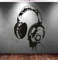 headphones music dj wall stickers wall art decal stickers is part of Sticker wall art - Headphones Music DJ Wall Stickers Wall Art Decal Stickers MusicWall art Graffiti Art, Graffiti Bedroom, Music Graffiti, Bedroom Murals, Wall Murals, Wallpaper Decor, Music Wallpaper, Colorful Wallpaper, Metal Tree Wall Art