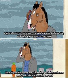 "When you're pretty sure everyone is hanging out without you: | 24 Times ""BoJack Horseman"" Totally Understood What It's Like To Be Human"