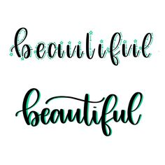 """Brush lettering tutorial - how to hand letter the word """"beautiful"""""""