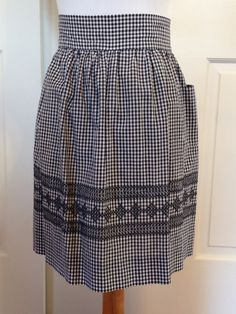 #LGlimitlessdesign #contest Vintage black and white gingham apron