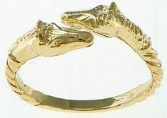 14k gold double horse head ring - Show Stable Artisans
