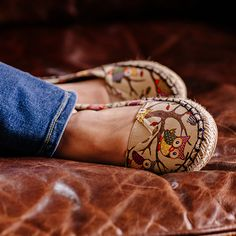 For footware that combines cute with comfort, grab these springtime slip ons at the Cracker Barrel Old Country Store.