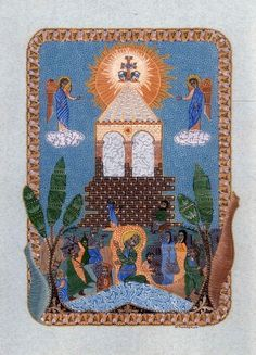 Armenian miniature work 'The building of St Etchmiadzin'