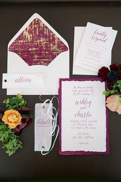Larissa Cleveland Photography   Floral Design: Michael Daigian Design   Paper Goods: Yonder Design   Coordination & Design: LVL Weddings & Events via CeremonyMagazine.com