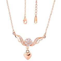 Platinum Plated/Rose Gold Plated Necklaces by UloveFashionJewelry, $9.64