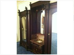 I love Craigslist so much!  This antique Victorian Eastlake wardrobe is my best find yet.