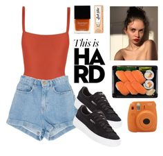 """H A R D"" by domeroman on Polyvore featuring moda, Matteau, Butter London, Fujifilm, Puma y Benefit"