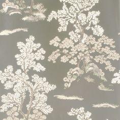 GP & J Baker Oriental Tree Taupe Gold Wallpaper