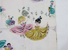 Vintage Novelty Fabric / Little Women Print / by 4birdsvintage