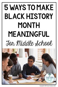 It is not easy to find the time to bring in Black History Month lessons in your Middle School Social Studies classroom. Use these 5 simple ideas to make Black History Month more engaging for your students. Middle School Activities, Middle School History, Black History Month Activities, Social Studies Classroom, Planer, Elementary Teaching, Upper Elementary, Teacher Resources, Teaching Ideas