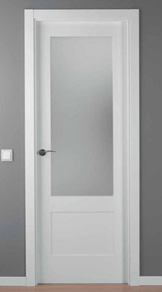 Painted doors with glass 3 panel or glass only at top if for Puertas de aluminio para cuartos