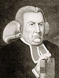 """Charles Chauncy (1705–1787) was an American Congregational clergyman in Boston. He was ordained as a minister of the First Church, Boston, in 1727 and remained in that pulpit for 60 years. Next to Jonathan Edwards, his great opponent, Chauncy was probably the most influential clergyman of his time in New England.   He became the leader of the """"Old Lights"""" or liberals in theology in the doctrinal disputes following the Great Awakening."""