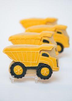 Dump Truck Cookies for Boy's 3rd Birthday | Sweet Kiera