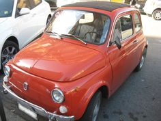 Lovely orange vintage Fiat 500 spotted in the neighborhood.