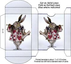 THETINCAT: Box Template Playing Card for Mad Tea Party?