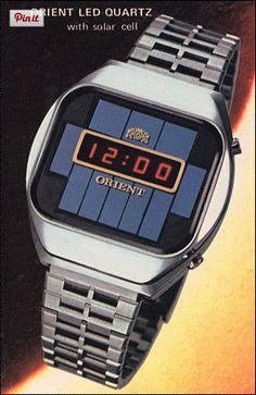 #TBT Here's a solar quartz LED watch from the late 70's! Would you rock it?