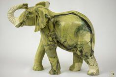 Butter Jade Stone Elephant Sculpture - Zimbabwe Elephant Sculpture, Lion Sculpture, Jade Stone, Zimbabwe, Butter, African, Statue, Ebay, Art