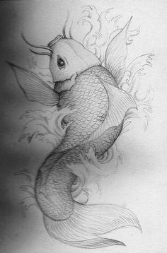 Amazing Koi Fish Draw Best Tattoo Design. TattoosHunter
