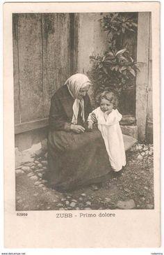"Old Postcards ""ZUBB - PRIMO DOLORE"" Italy 1914."