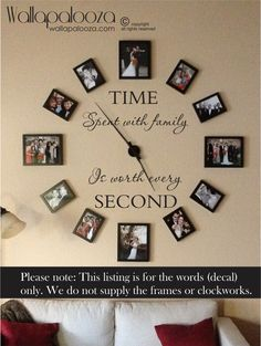 Time spent with family is worth every second wall decal - family wall decal…