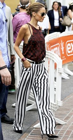 NICOLE RICHIE: GRAPHIC PRINT | BOLD STRIPES | BRAIDED BUN