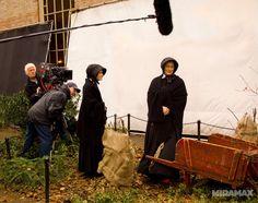 Meryl Streep and Amy Adams on the set of 'Doubt'