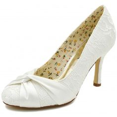 ElegantPark Women's Peep Toe Pumps Stiletto High Heels Prom Lace Wedding  Party Court Shoes Ivory UK 5. See More. Lily by The Perfect Bridal Shoe  Company ...