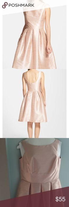 2dcca0ef09bd9 ALFRED SUNG Dupioni Fit and Flare Dress Size 14 in Pearl Pink - Style No