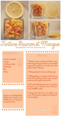 Les Gourmandises de Jelly: ♥ 051 • Tartare de saumon à la mangue ♥