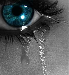 Yes, I have blue eyes and yes I cry...as I get older it seems more and more...