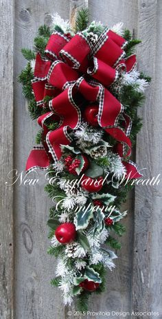 Sturbridge Holiday Swag.  ~A New England Wreath Company Designer Original~