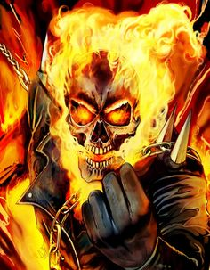 Ghost Rider (Spirit of Vengeance) Comic Movies, Comic Book Characters, Marvel Characters, Comic Character, Comic Books Art, Comic Art, Ghost Rider Johnny Blaze, Ghost Rider Marvel, Marvel Comics Art
